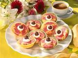 Rot-gelber Marmorkuchen vom Blech Rezept