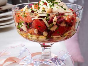 Rot-weißer Bohnensalat Rezept