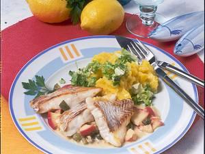 Rotbarschfilet mit Chinakohl und Kartoffelpüree (Diabetiker) Rezept