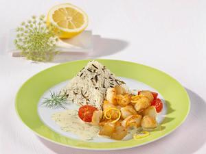 Rotbarschfilet Stroganoff mit Kirschtomaten und Wildreismischung Rezept