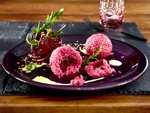 Rote-Bete-Balls mit Rucola und Wasabimayonnaise Rezept
