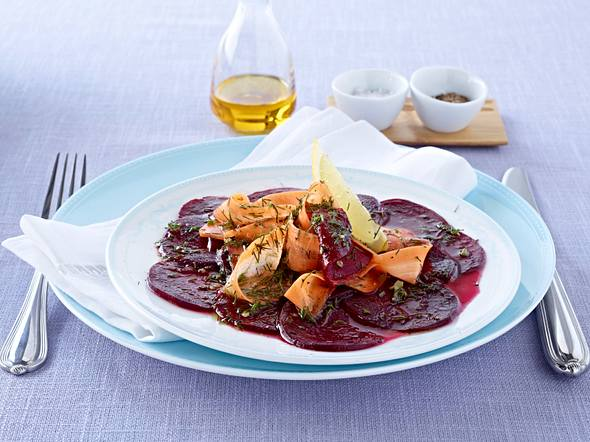 Rote Bete Carpaccio mit Möhren Rezept
