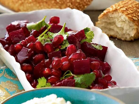 Rote-Bete-Granatapfel-Salat Rezept