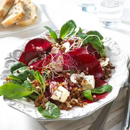 rote bete salat mit linsen rezept chefkoch rezepte auf kochen backen und schnelle. Black Bedroom Furniture Sets. Home Design Ideas