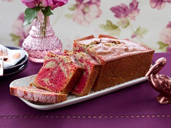 Rote Bete-Mohn-Marmorkuchen Rezept