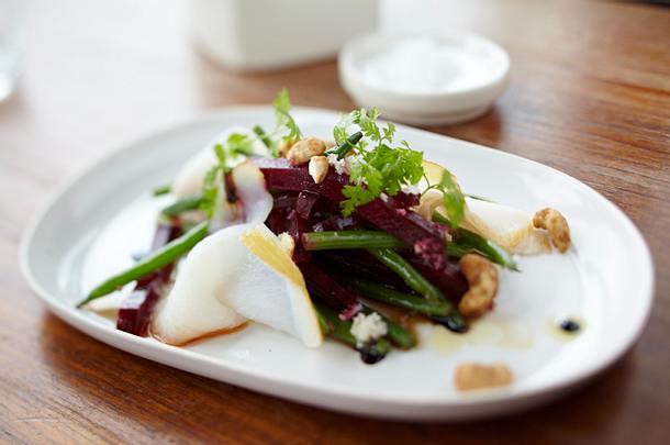 Rote-Bete-Salat mit Heilbutt Rezept