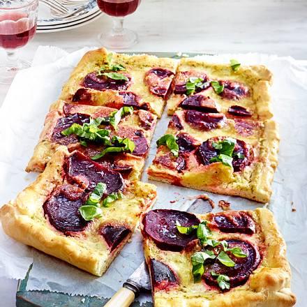 Rote-Bete-Tarte mit Mozzarella Rezept