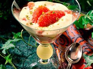 Rote Grapefruit-Filets mit Pistazienzabaione Rezept