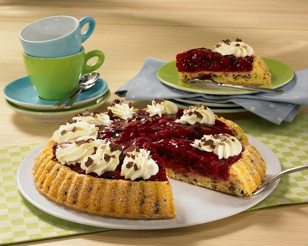 Rote-Grütze-Kuchen (Diabetiker) Rezept