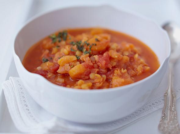 Rote Linsen-Aprikosen-Suppe Rezept