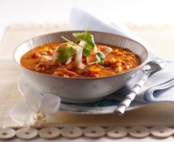 Rote Linsen-Kokos-Suppe Rezept