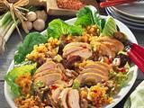 Rote-Linsen-Salat mit Hähnchenfilet Rezept