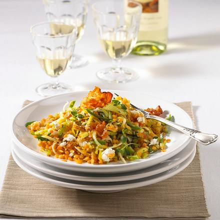 Rote Linsen-Speck-Salat Rezept