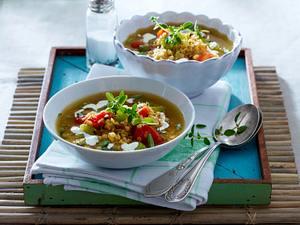 Rote-Linsen-Suppe mit Meerrettichcreme Rezept