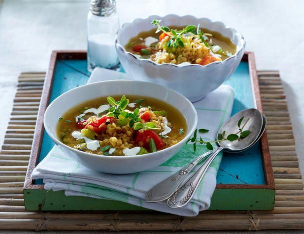 rote linsen suppe mit meerrettichcreme rezept chefkoch rezepte auf kochen backen. Black Bedroom Furniture Sets. Home Design Ideas
