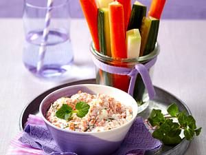 Roter Linsendip zu Gemüsesticks Rezept