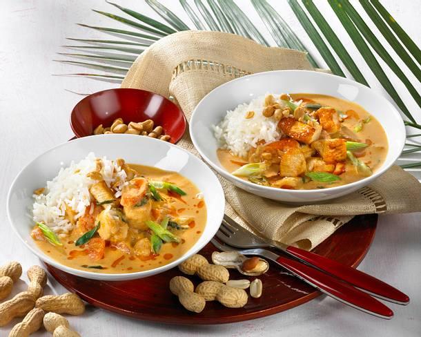 Rotes Thai-Curry mit Hähnchen Rezept
