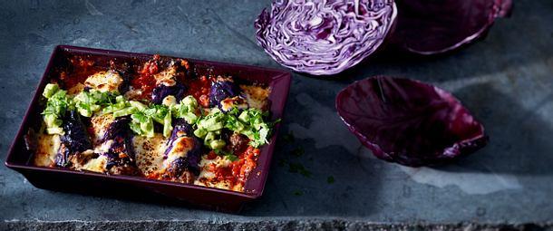 Rotkohl-Mini-Enchiladas Rezept