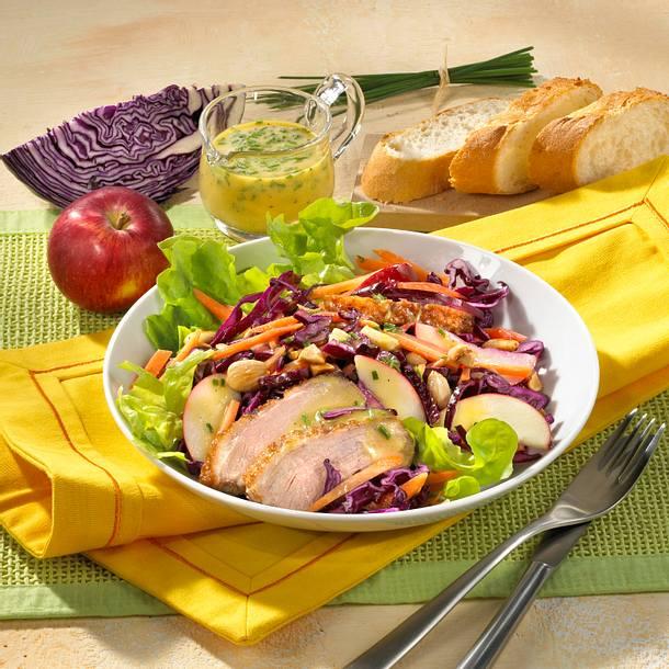 rotkohl m hren salat mit entenbrust rezept chefkoch rezepte auf kochen backen und. Black Bedroom Furniture Sets. Home Design Ideas