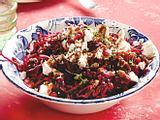 Rotkohl-Rote-Bete-Salat mit Feta Rezept