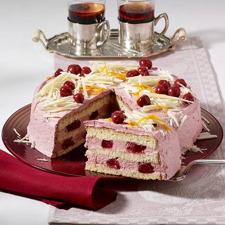 Rotwein-Orangen-Torte Rezept