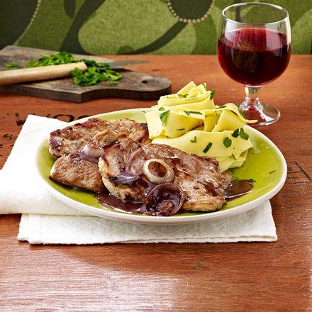 Rotwein-Schnitzel Rezept