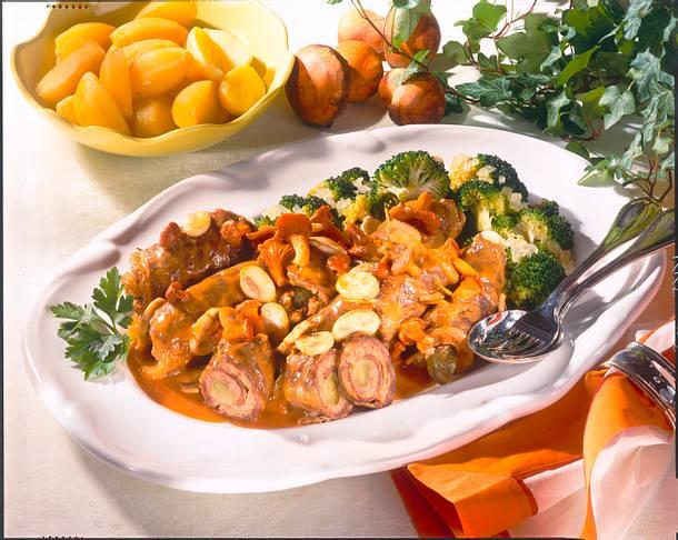 Rouladen mit Pilzen und Broccoli Rezept