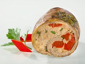 Rouladen mit scharfer Mett-Paprika-Füllung Rezept