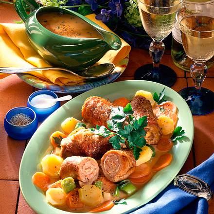 Rouladen und Gemüsesoße Rezept