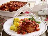 Rouladenauflauf mit Tomaten- Pilzrahm Rezept