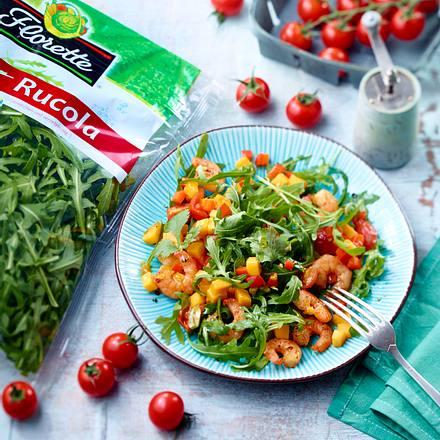 Ruccola-Garnelen-Salat mit Mango Rezept