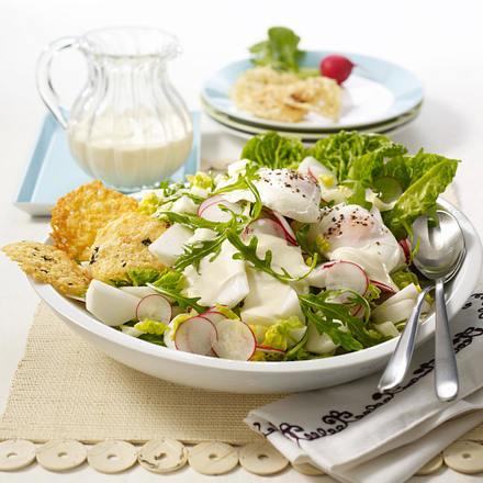 Rucola-Radieschen-Mairübchen-Salat Rezept
