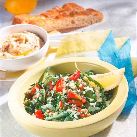 Rucolasalat mit Bulgur & Tomate Rezept