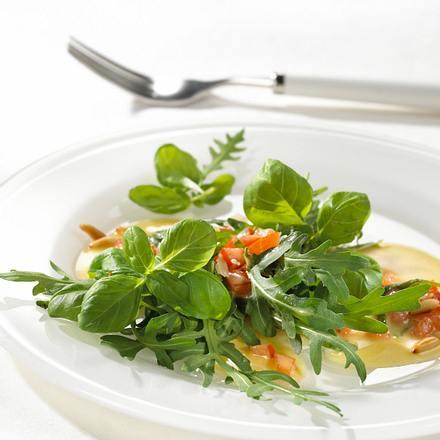 Rucolasalat mit Tomatenvinaigrette Rezept