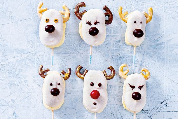 Rudolph-Macarons mit Lemoncurd Rezept