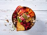 Rübli-Bowl mit Himbeeren Rezept