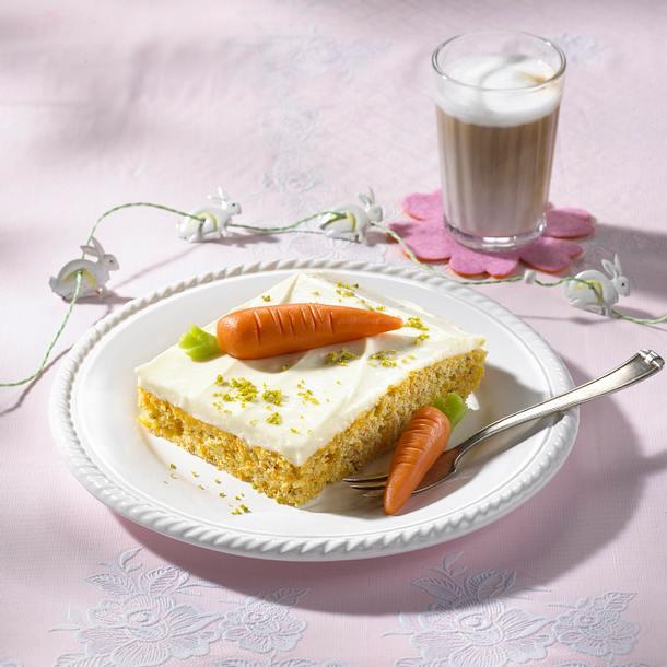 Rübli-Kuchen mit Pistazien-Kernen Rezept