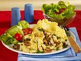 Rührei mit Champignons und Kartoffelpüree Rezept