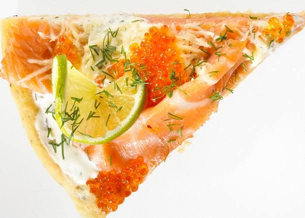 Russische Lachs-Pizza Rezept