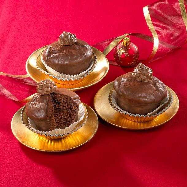 Sacher-Muffins mit Trüffeln  Rezept