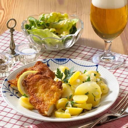 Sächsische Broilerbrüstchen mit Kartoffelsalat Rezept
