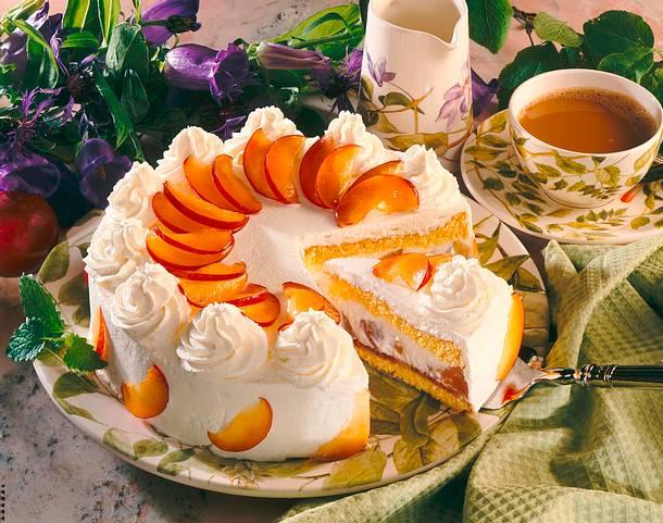 Safran-Pflaumen-Torte Rezept