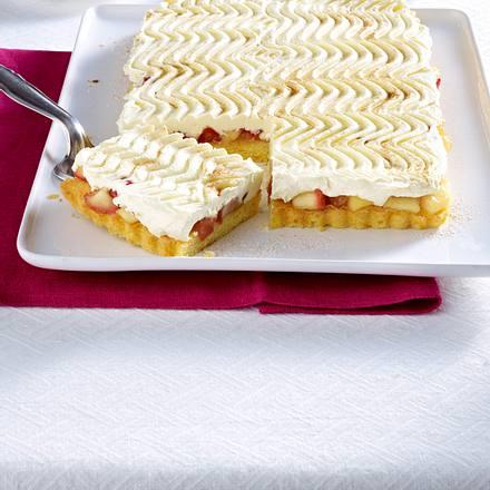 Saftige Donauwellen-Tarte mit Möhren und Apfelkompott Rezept