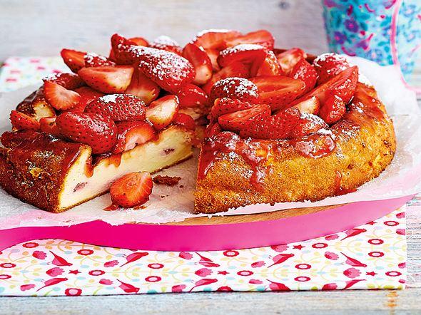 Saftiger Erdbeer-Käsekuchen Rezept