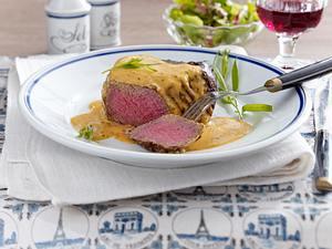 Saftiges Filetsteak mit Sauce Café de Paris Rezept