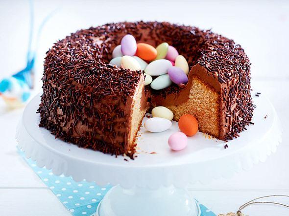 Saftiges Schoko-Marzipan-Nest Rezept