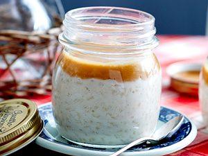 Sahne-Milchreis mit Salz-Karamell-Soße Rezept