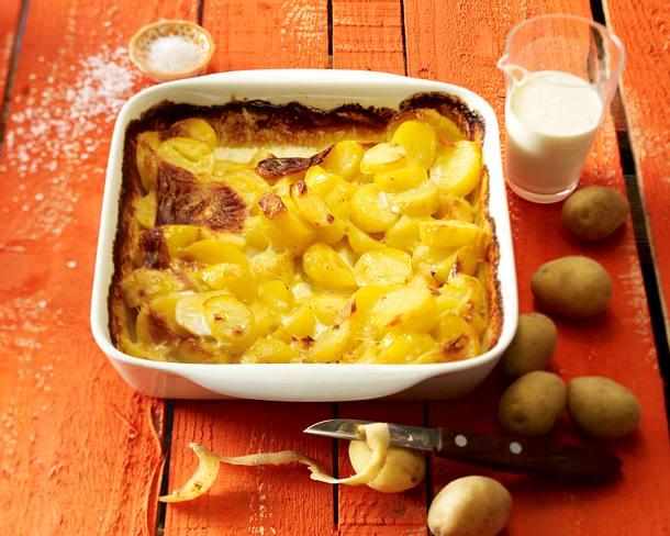 Sahneüberbackene Kartoffeln Rezept