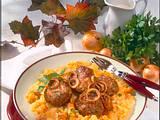 Sahniges Steckrüben-Kartoffel-Möhren-Ragout zu Frikadellen Rezept