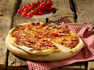 Salami-Pizza Rezept